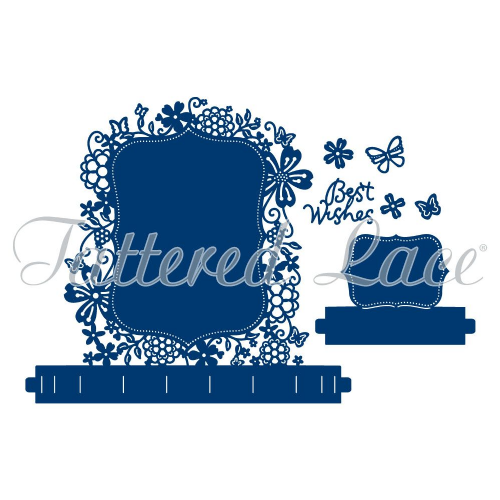 Tattered Lace Dies - Flectere Bracket Label Fancy Foundation TLD0061 - By Stephanie Weightman